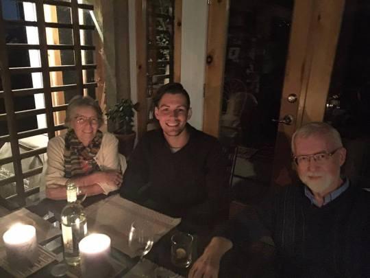having dinner with Hildegard Westerkamp and Barry Truax