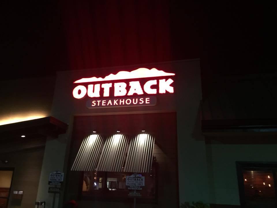 Outside an Outback Steakhouse