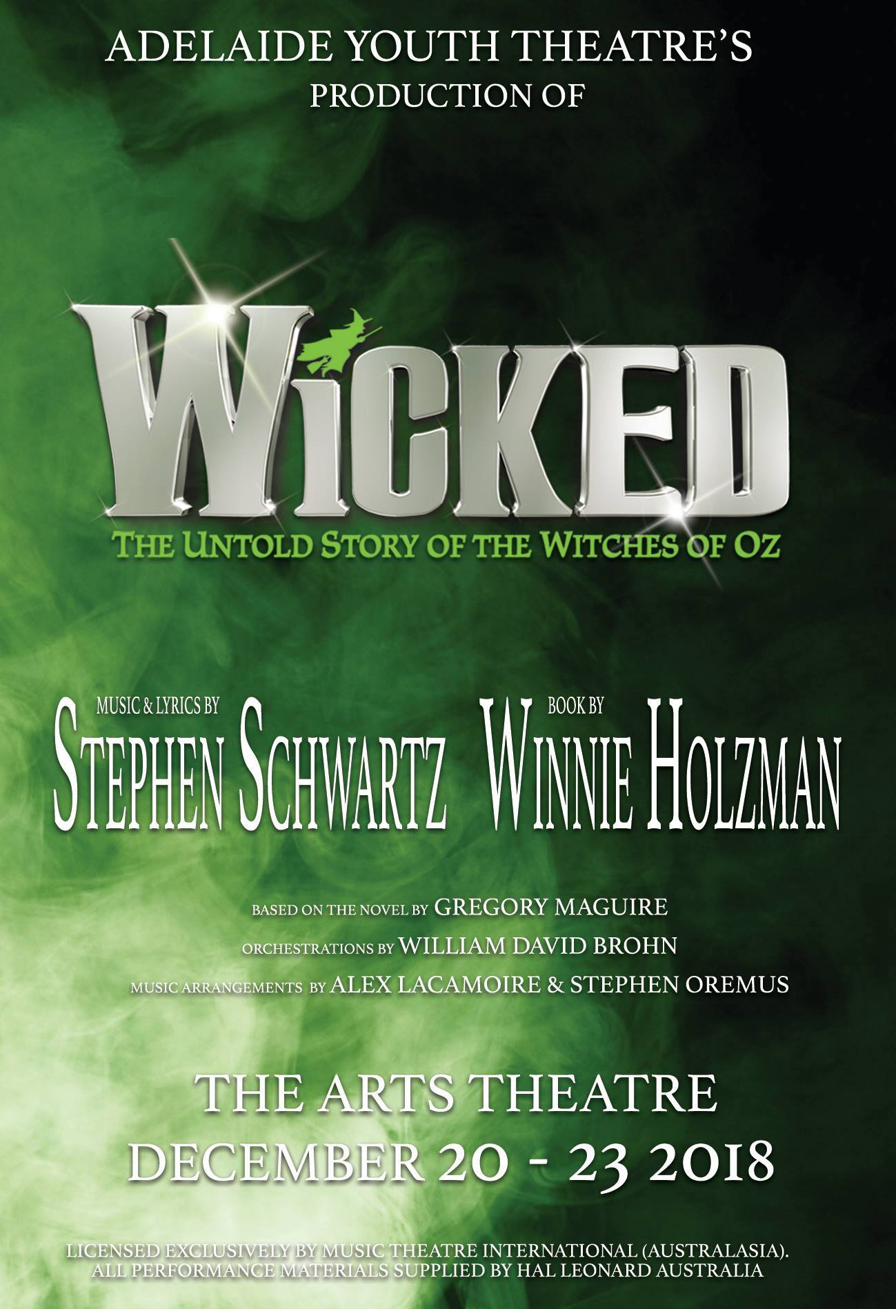Wicked - Assistant Musical Director, Repetiteur and Keyboard 3
