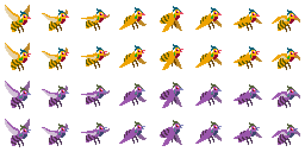 Sprite Sheet for the Qinyuan