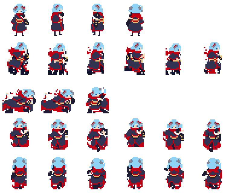 Main Character Sprite Sheets