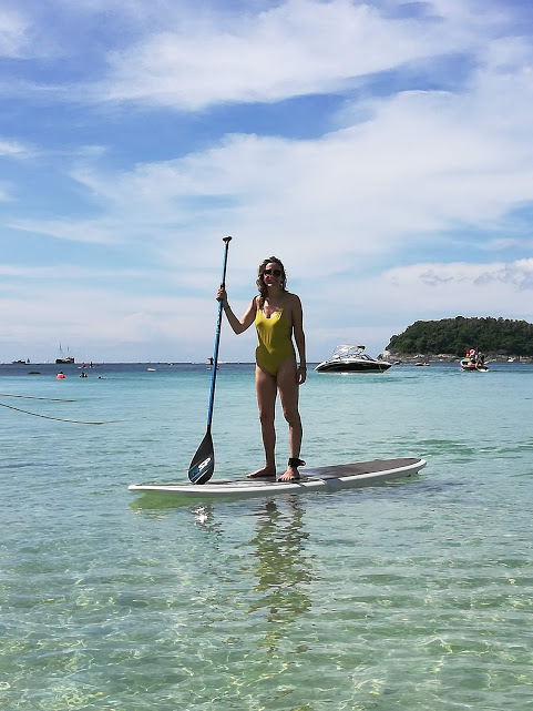 Photographic evidence that I can successfully stand on a paddle board!