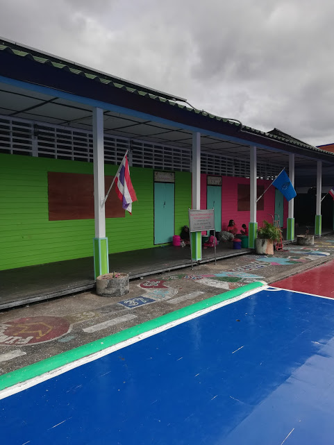 The school on Koh Panyi, the floating Muslim village.