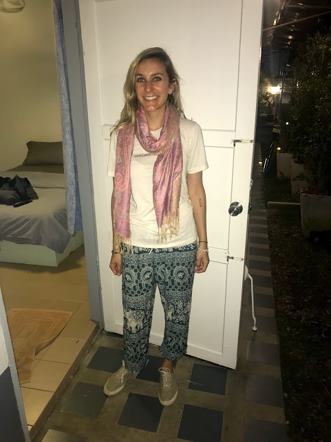 Elephant pants chic at the Ann Guest House in Chiang Rai.
