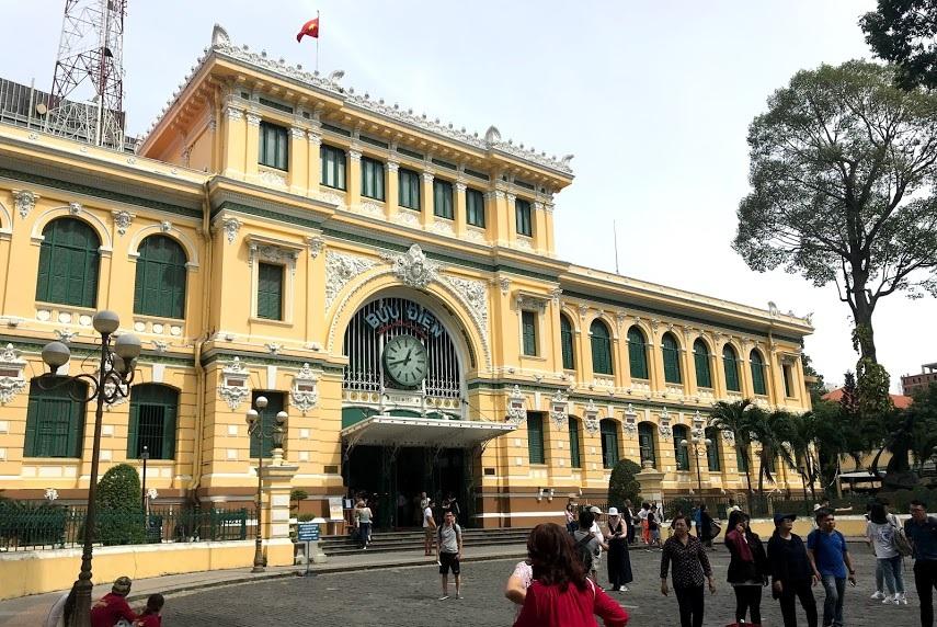 The gorgeous Saigon Central Post Office in Paris Square.
