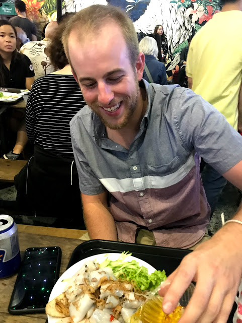 Find you someone who looks at you the way Dave looked at his dinner at the Ben Thanh Street Food Market.