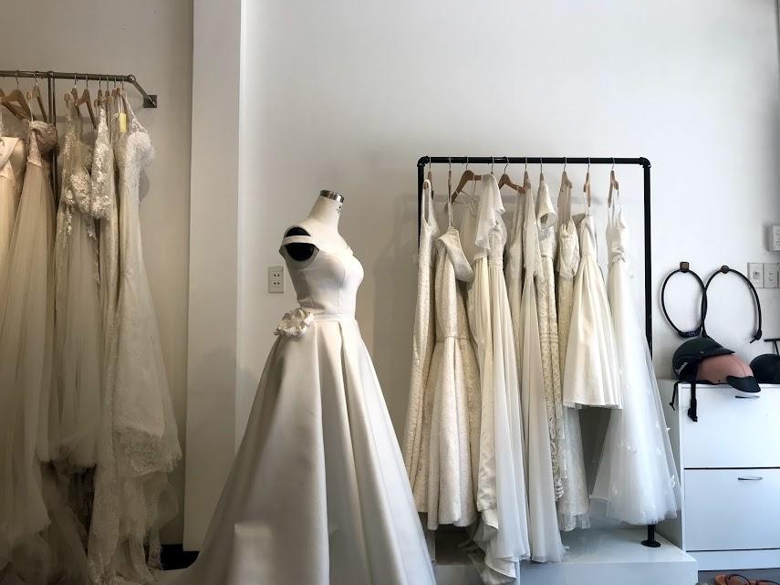 A peek into the bridal shop!