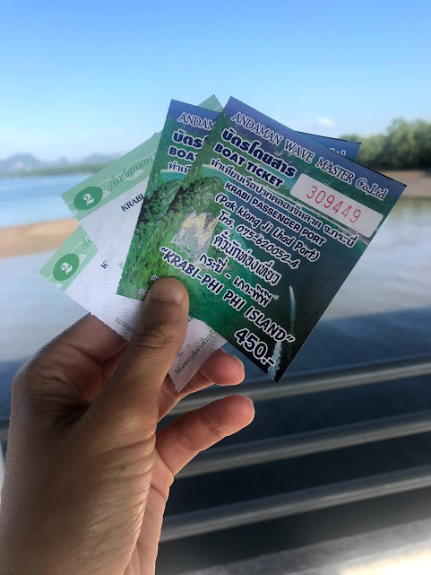 Our ferry tickets to Ko Phi Phi Don.
