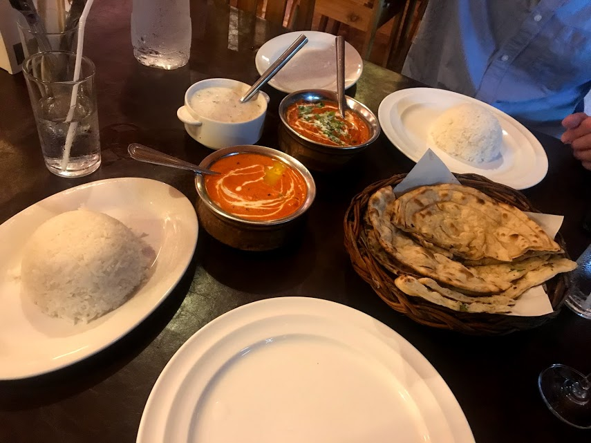 Our Indian feast at Tandoori Nights in Ao Nang.