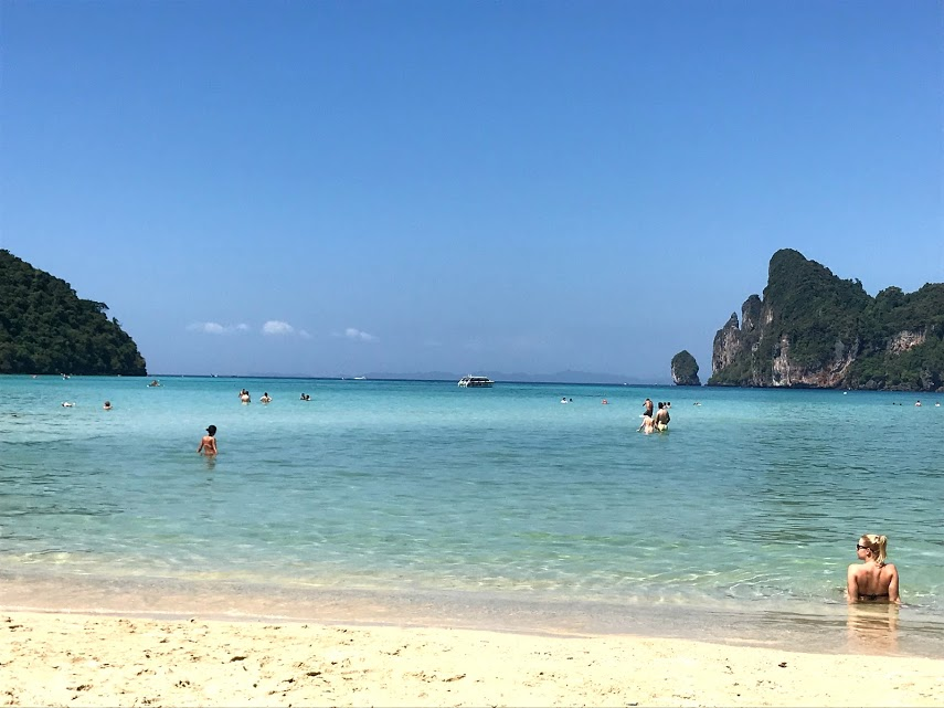 The crystal clear water at Ko Phi Phi Don beach.