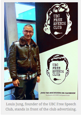 Our founder - The UBC Free Speech Club was founded by Louis Jung, a student who moved to Vancouver from Korea in September to attend a program at UBC.