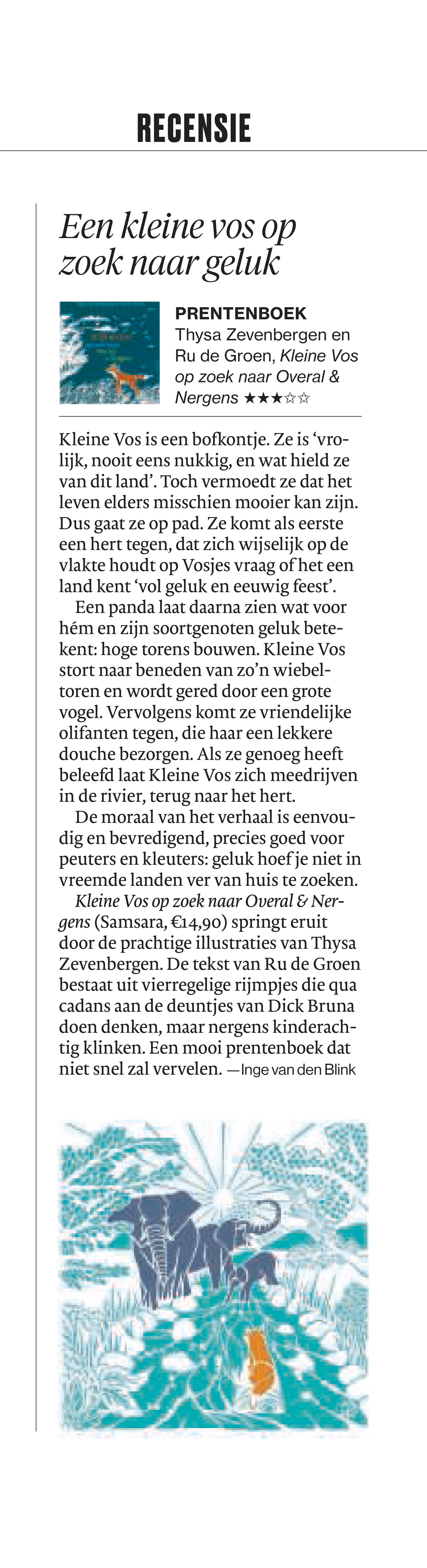 Recensie AD 25.05.19 Inge van den Blink