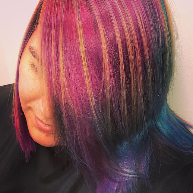 Best way to show some insight to #creative thinking is to show you.... I give you #lolsurprise #haircolor . #btconeshot19_unconventionalcolor #btconeshot19_vibrant #btcbigshot19_creativehaircolor #btconeshot19_vibrant #btchotshot19_unconventionalcolor #btchotshot19_creativehaircolor #btchotshot19_colortransformation . . #photooftheday, #picoftheday, #20likes, #igers, #tweegram, #instalike, #bestoftheday, #popularpic, #instacool, #instagood, #instadaily, #like4like, #igaddict, #popularphoto, #instafamous,