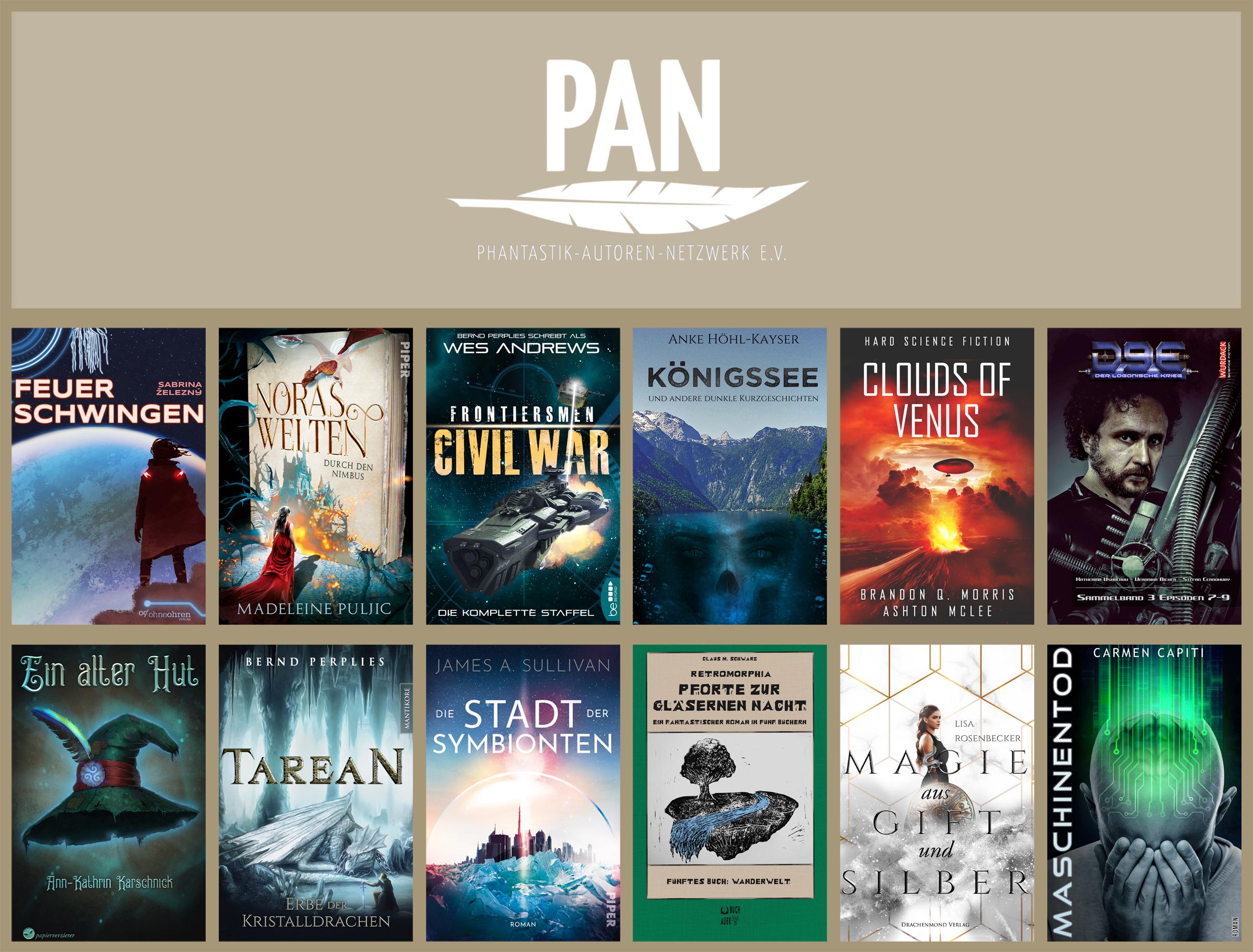 Die Cover der April-Titel der PAN-Mitglieder