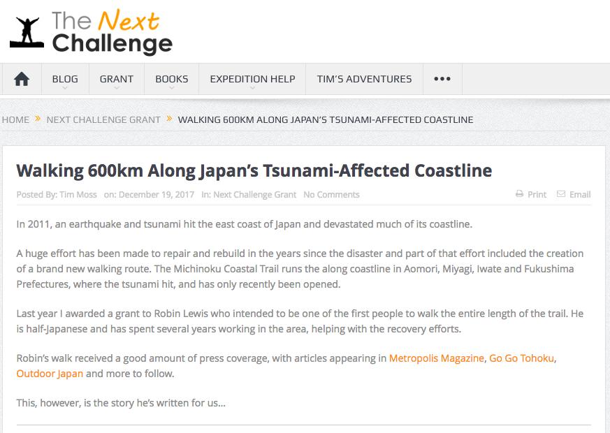 The Next Challenge Michinoku Coastal Trail Tohoku Japan