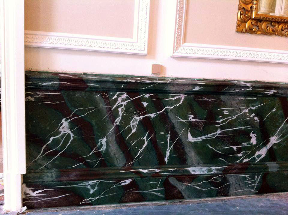 faux marble finish landmark hotel marylebone london bespoke renovation 5