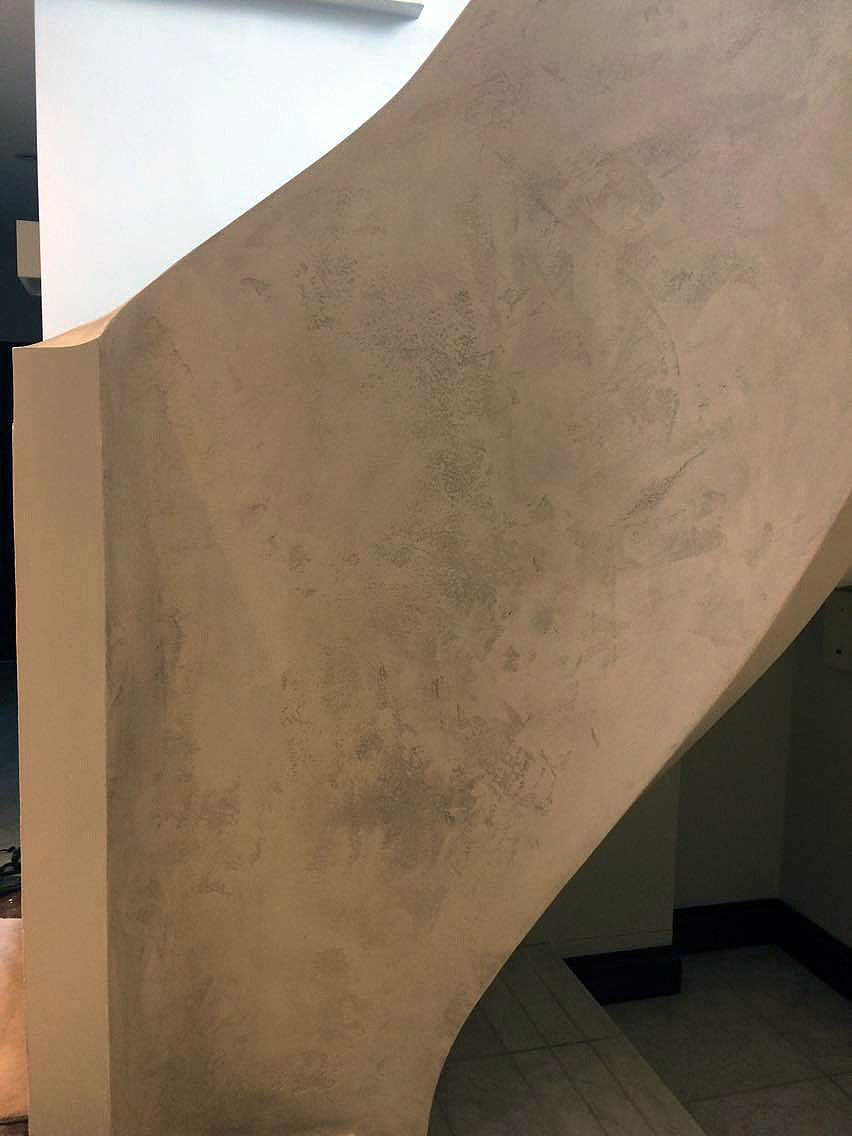 bespoke travertino polished plaster renovated stairs modern look unique fabulous finishes uk tammara mattingly 1