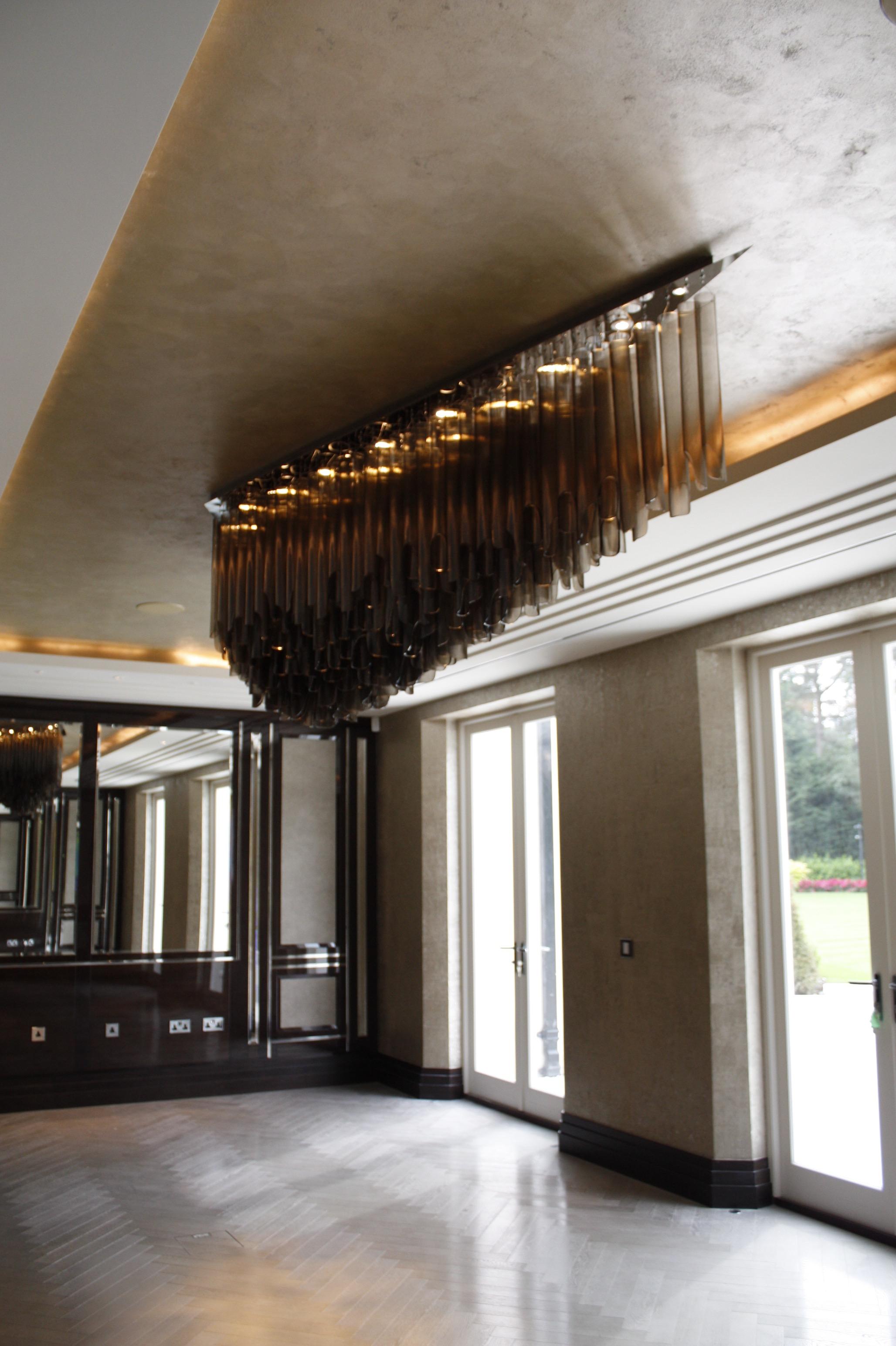 bespoke gold textured italian metallic coffer ceiling interior design fabulous finishes uk -1.jpg