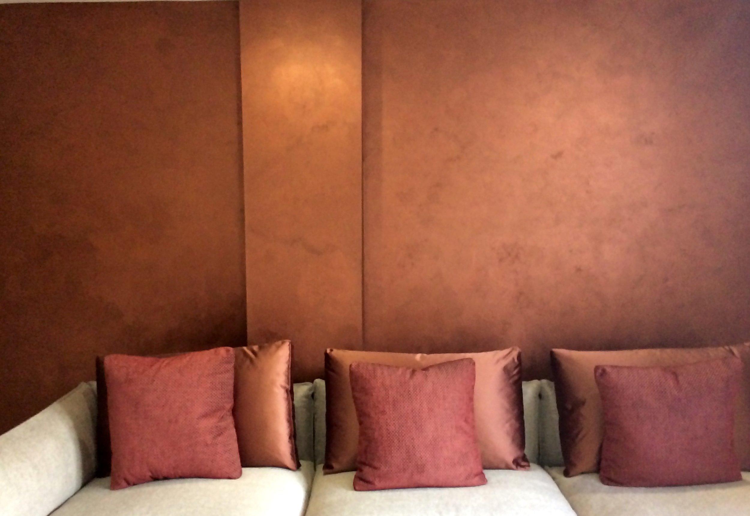 Copper metallic textured bespoke wall finish fabulous finishes uk interior design 2.jpg