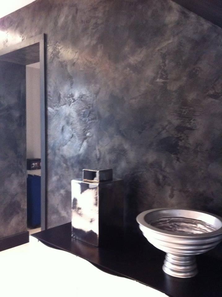 bespoke feature wall finish textured black grey metallic italian stucco polished plaster north london fabulous finishes uk 1.jpg