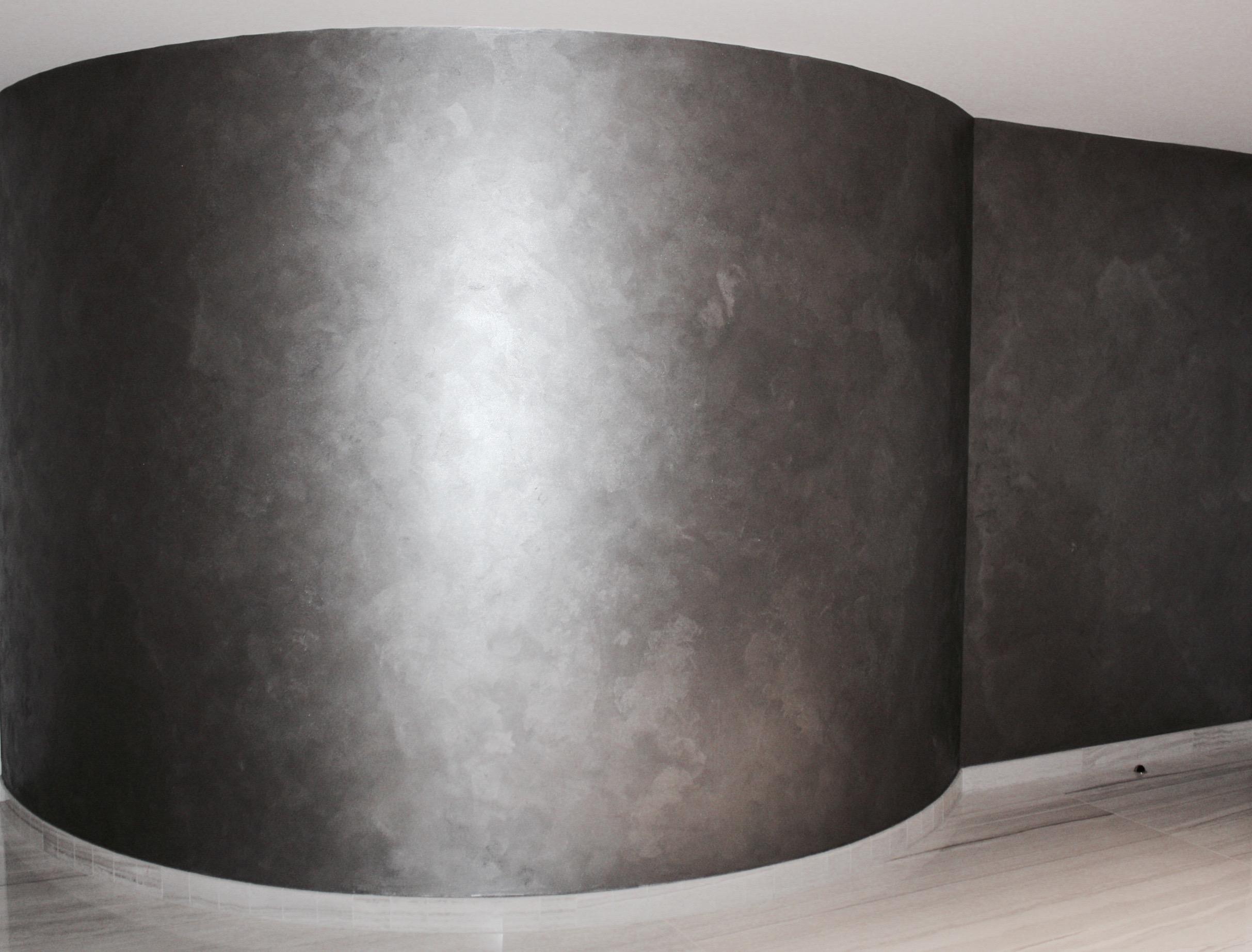 grey metallic textured bespoke dining room kitchen feature wall finish custom interiors jpg.jpg