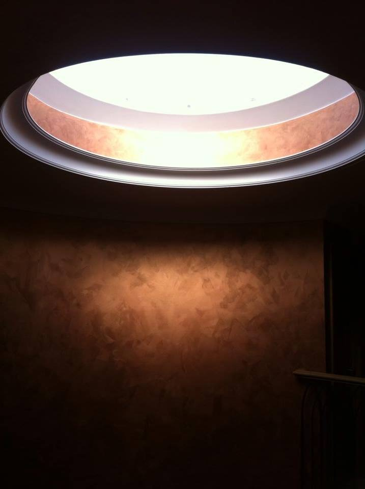bespoke copper feature entrance skylight light reactive lustra finish