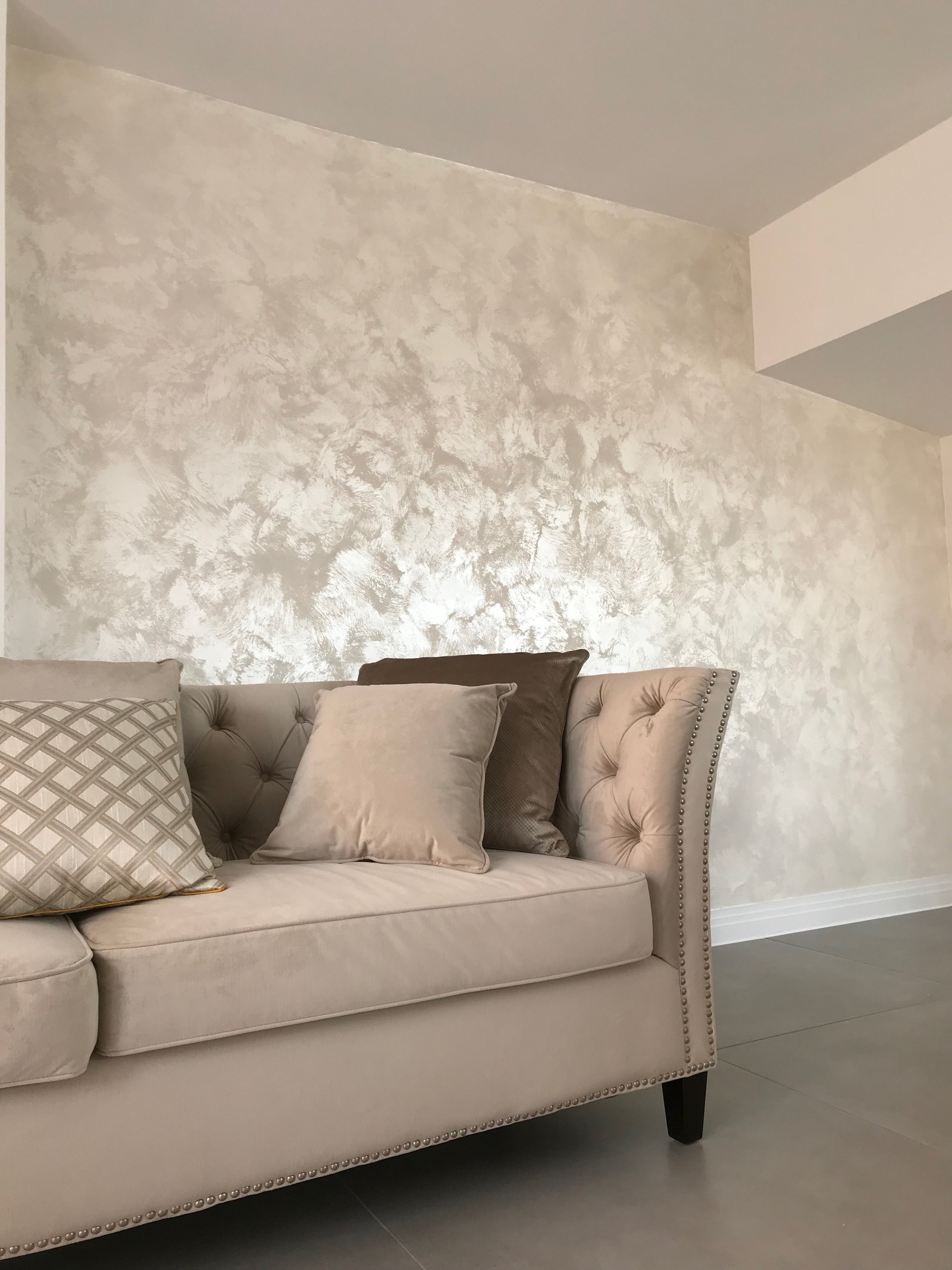 bespoke white suede luxury italian texture feature wall fabulous finishes uk