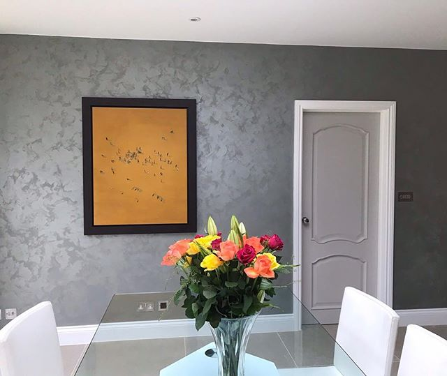 #flashbackfriday To this it is our suede luxury finish in concrete grey, for a property in Gerrads cross England, our clients love this finish so much the had us back to do two more rooms 👌🏼 . . . #flashbackfridays #flashbackfriday #bespokewalls #custom #kitchendesign #interiordesign #beapokeinteriors #fabulousfinishes_uk #fabulous #finishes #suede #suedewalls #greywalls #beautifulwalls #dinningroom #england #uk #fabulouswalls #interior #interiordesigner #finish #fabulousfinishes #cutom