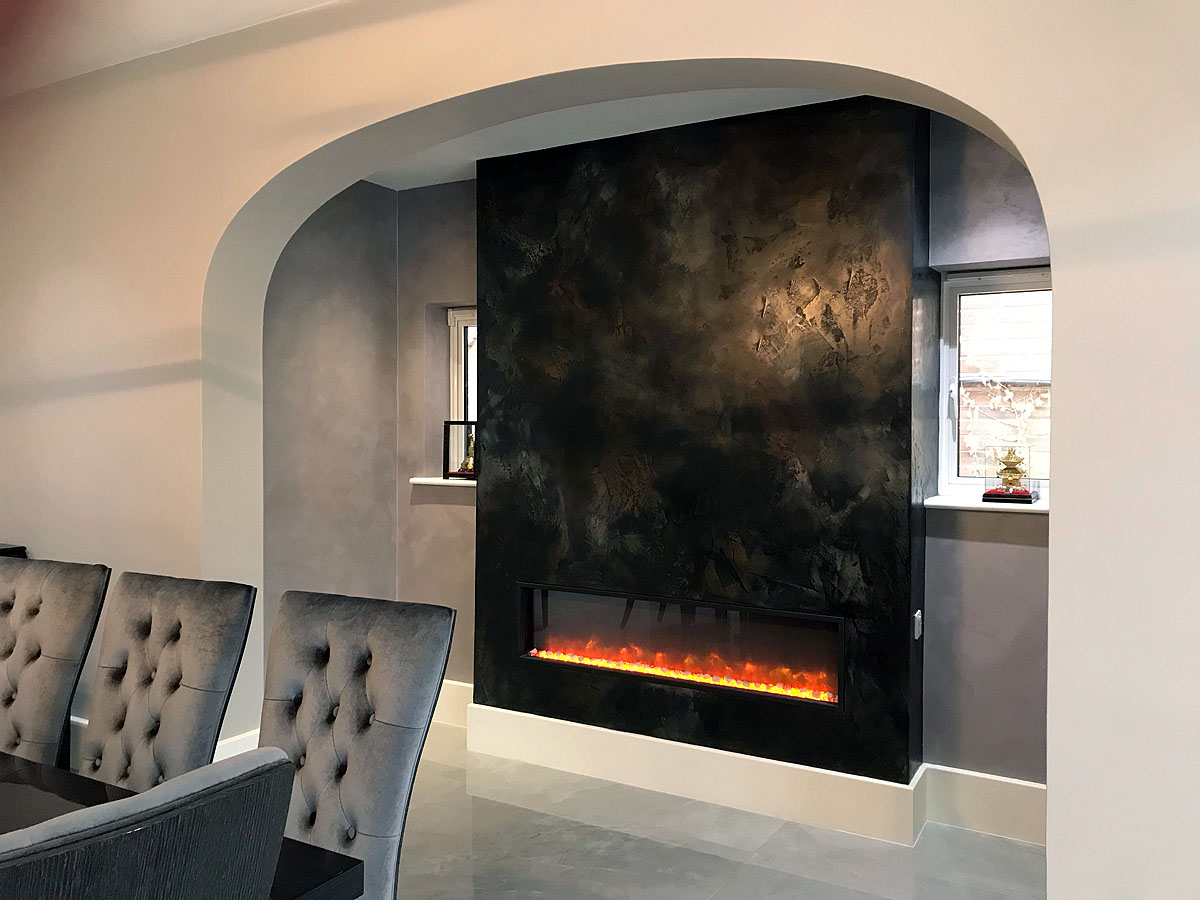 besp[oke black polished plaster copper fireplace custom fireplace design london 8.jpg