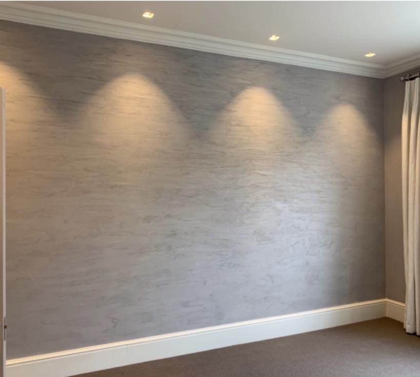 bespoke matt texture sableo feature wall finish light grey fabulous finishes uk