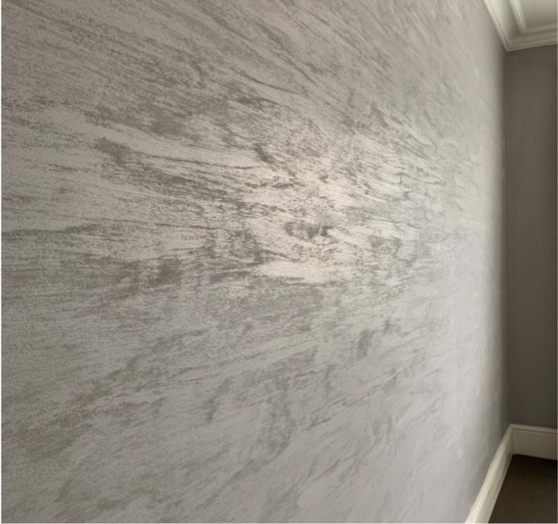 bespoke matt texture sableo feature wall finish light grey fabulous finishes uk x