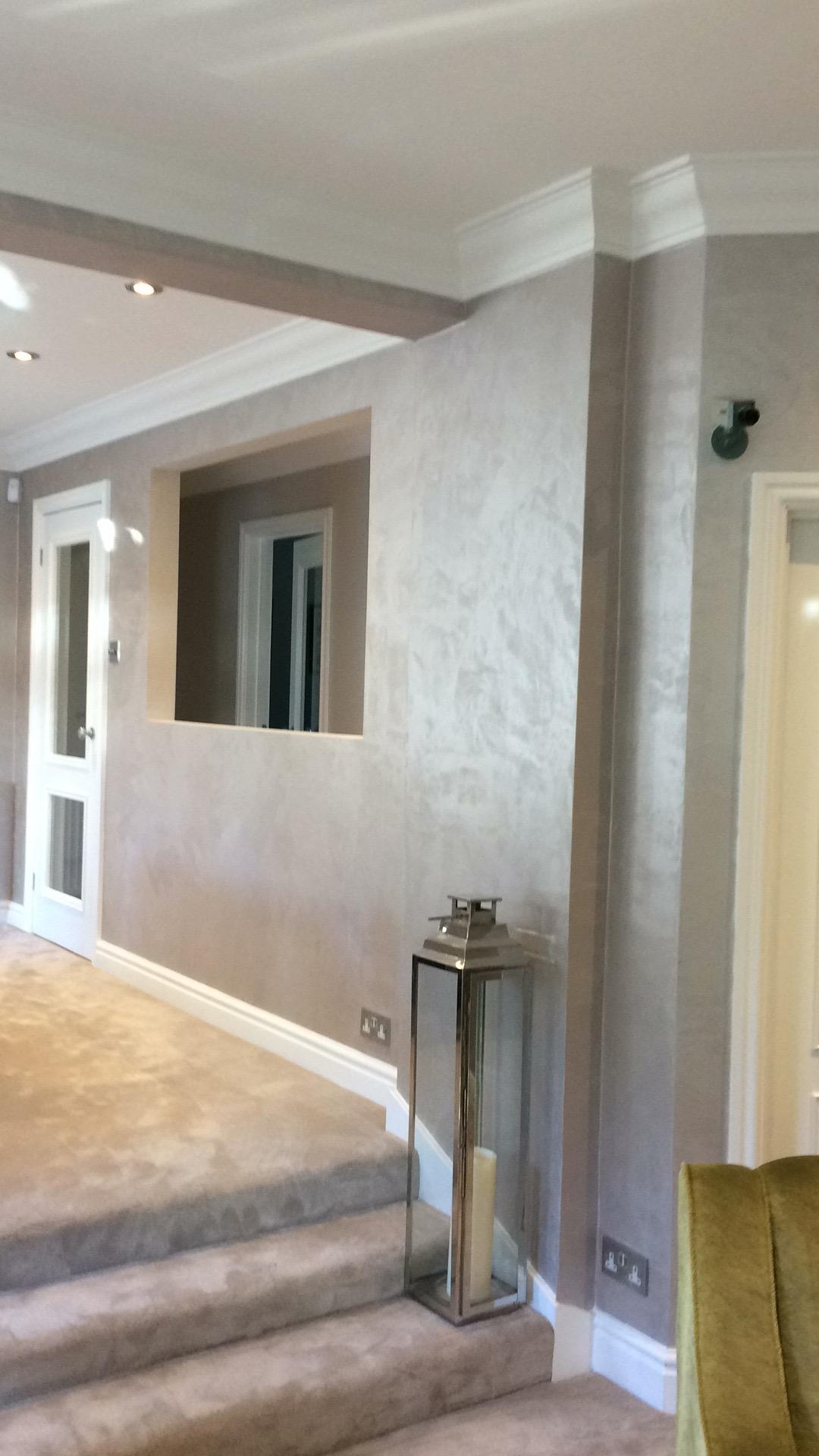 bespoke silkchic distressed silk feature wall finish