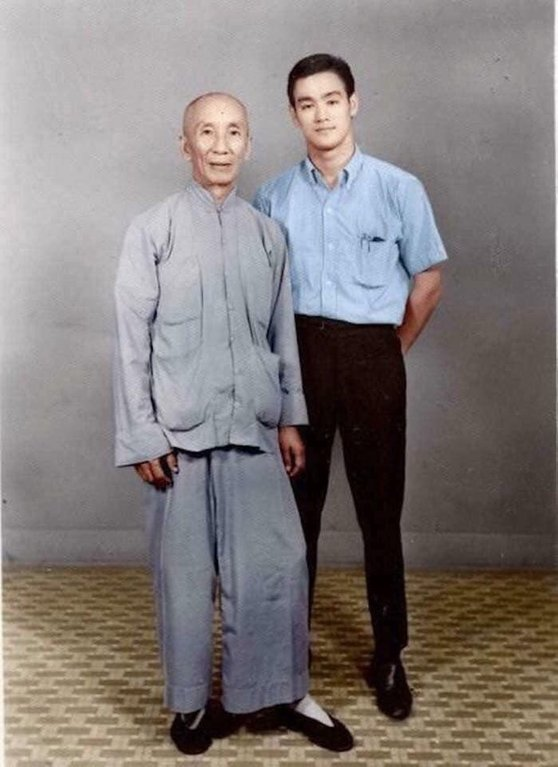 Bruce Lee With His Martial Arts Master, Ip Man