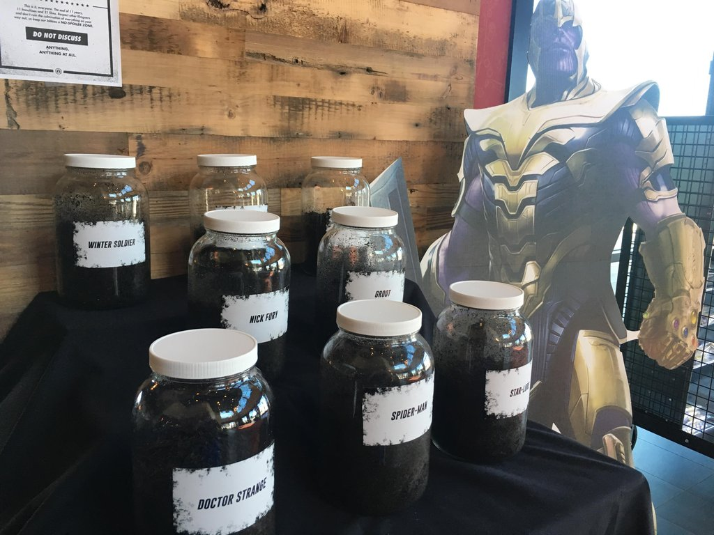 Infinity War Cemetery at Alamo Drafthouse