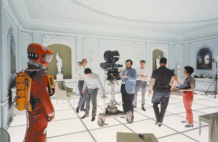 Stanley Kubrick and Crew Shooting Final Scenes of '2001: A Space Odyssey,' 1968