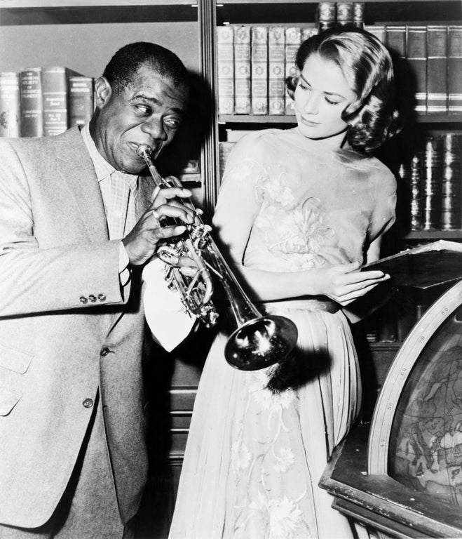 Louis Armstrong and Grace Kelly, 1956