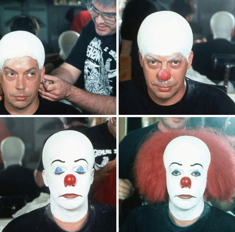 Tim Curry In the Makeup Chair On the Set of 'It,' 1990