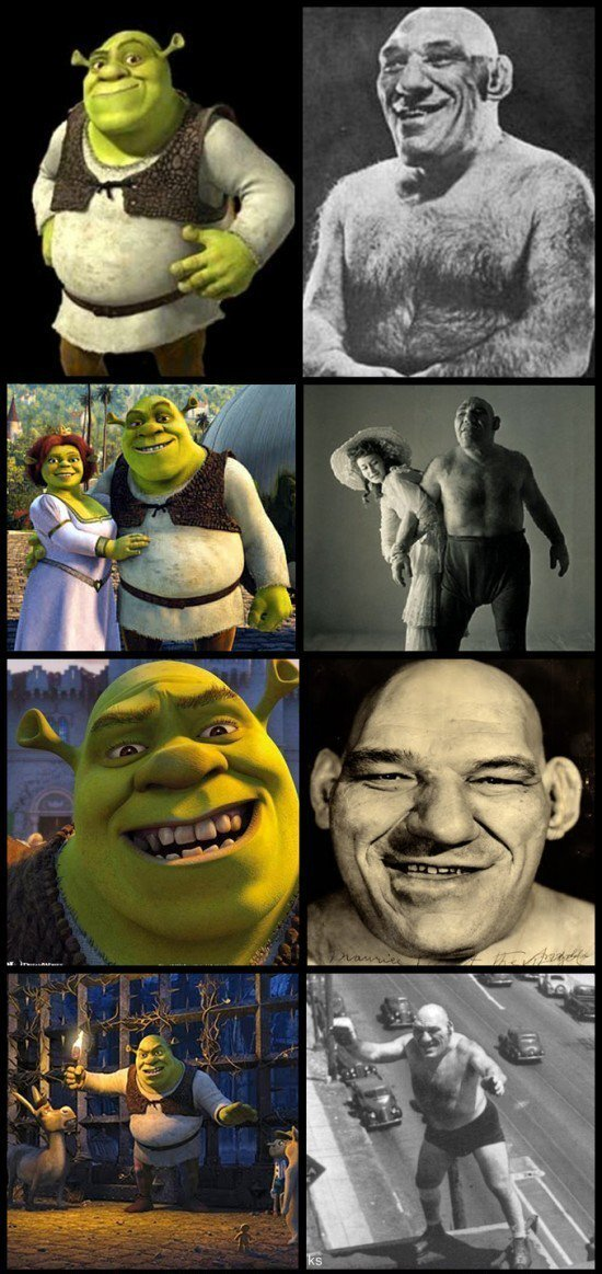 """Maurice """"The French Angel"""" Tillet and Shrek"""
