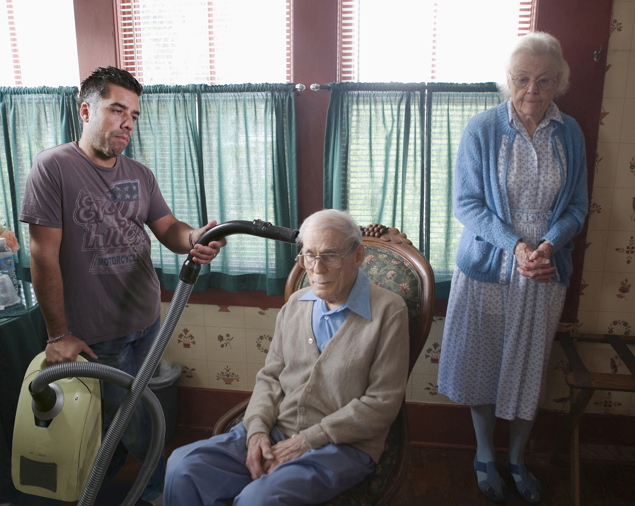 Vacuuming the elderly