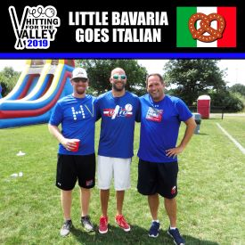 4. (5) Little Bavaria Goes ItalianGreg Downey, Brian Toth, andNick Diponio - Things were looking good for this trio as they went 3-0 in pool play including an extra inning 1-0 victory over the Swinging C's. Unfortunately for them the wheels fell off as they gave up 18 runs to Wiffle House in the semifinals. Rumor has it several teams were at the HVAC recruiting Diponio for next year, so we'll see what happens.