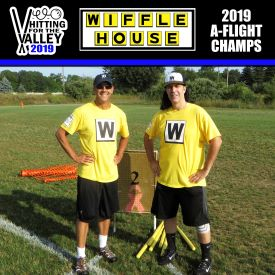 1. (4) Wiffle HouseJeff Radoicic and Mike Rudy - These guys embraced the name of the event and turned their bats on, scoring 52 runs in pool play and an additional 39 in their first two games of the bracket. Congrats to these WB legends and we'll see if they can defend the tile in 2020.