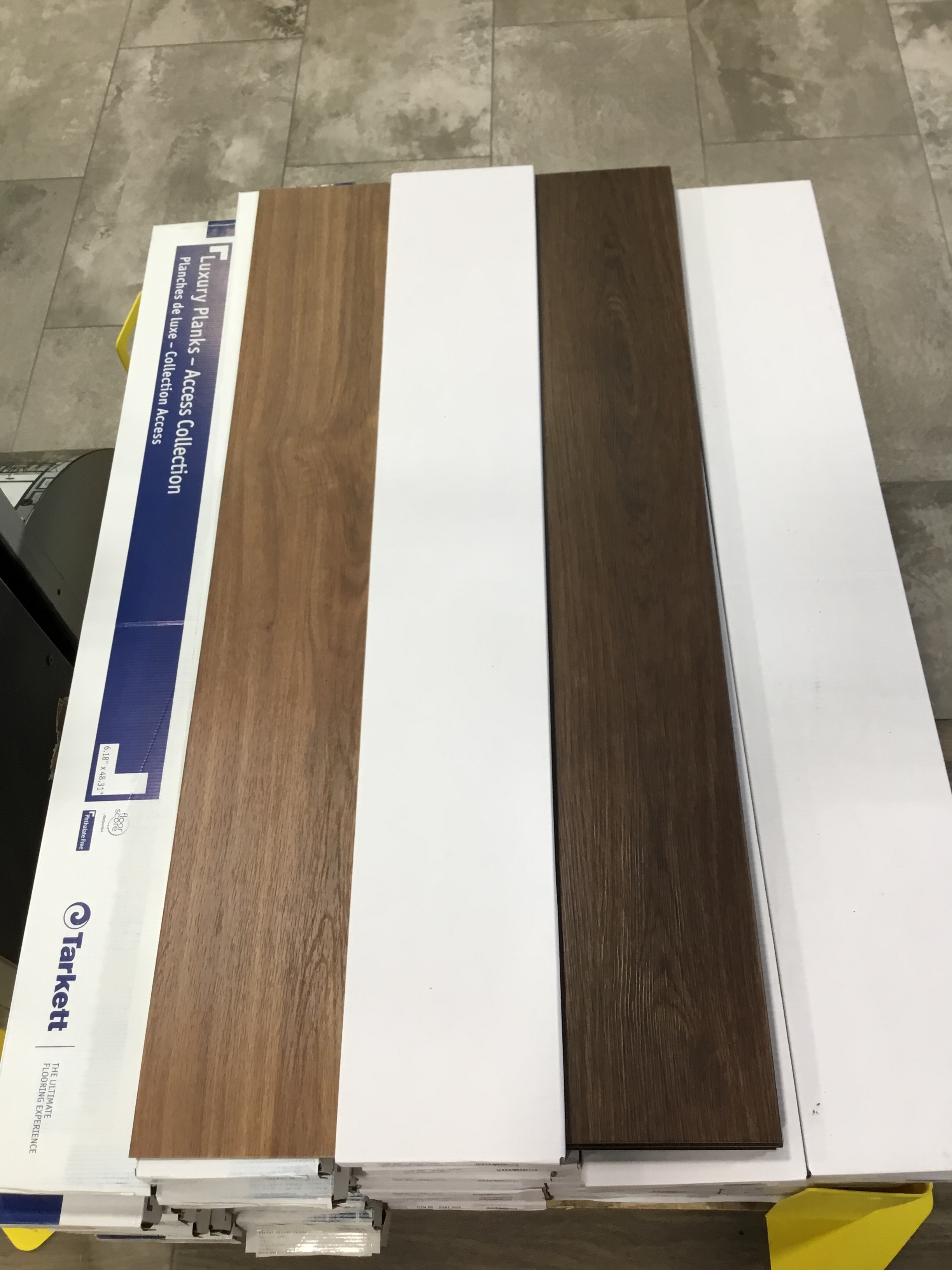 "Glue Down Waterproof Vinyl Plank-SALE!! - Colors: Cherry Kona or RidgewoodMeasurements: 6""x48""Cost: $1.00/sqft"