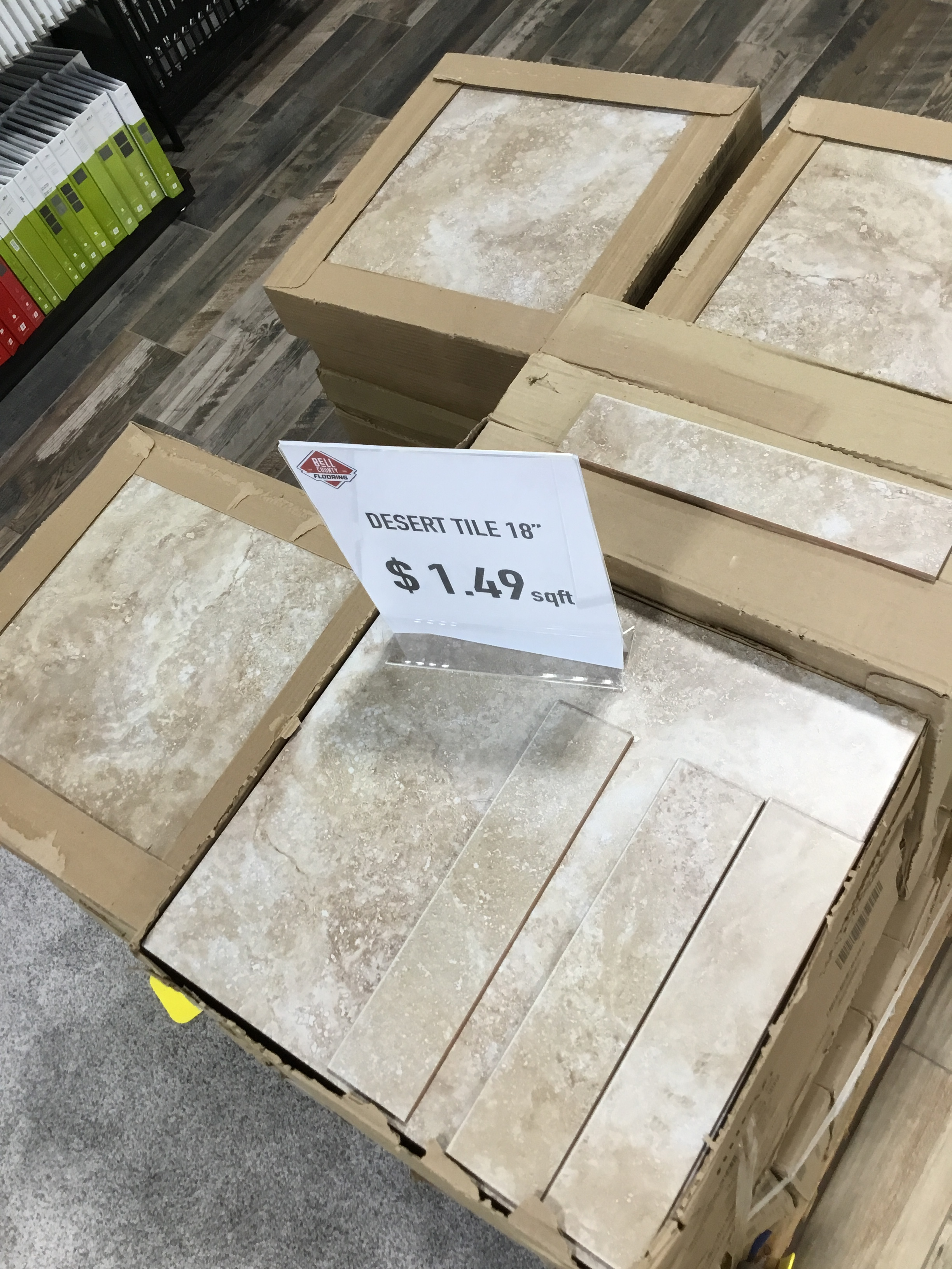 "Desert Tile-SALE!! - Color: VariationMeasurements: 18""x18""Cost: $1.49/sqft*This tile will come with the bullnose*"