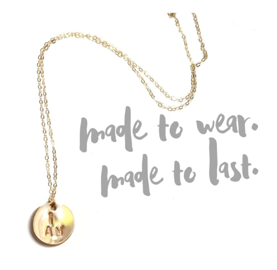i am gold fill necklace