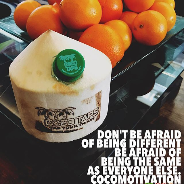 From now on, the @cocotapsforyou Team will be providing everyone with a #cocomotovationalmonday post, so turn on our notifications!  Today's #CocoMotivational #Monday reminds us to always take pride in our differences. Don't be afraidof being different, be afraid of being the same as everyone else. Only the original CocoGangsters make it to the top. 🌴❤️🤙🏼🥥🙏🏼🌎