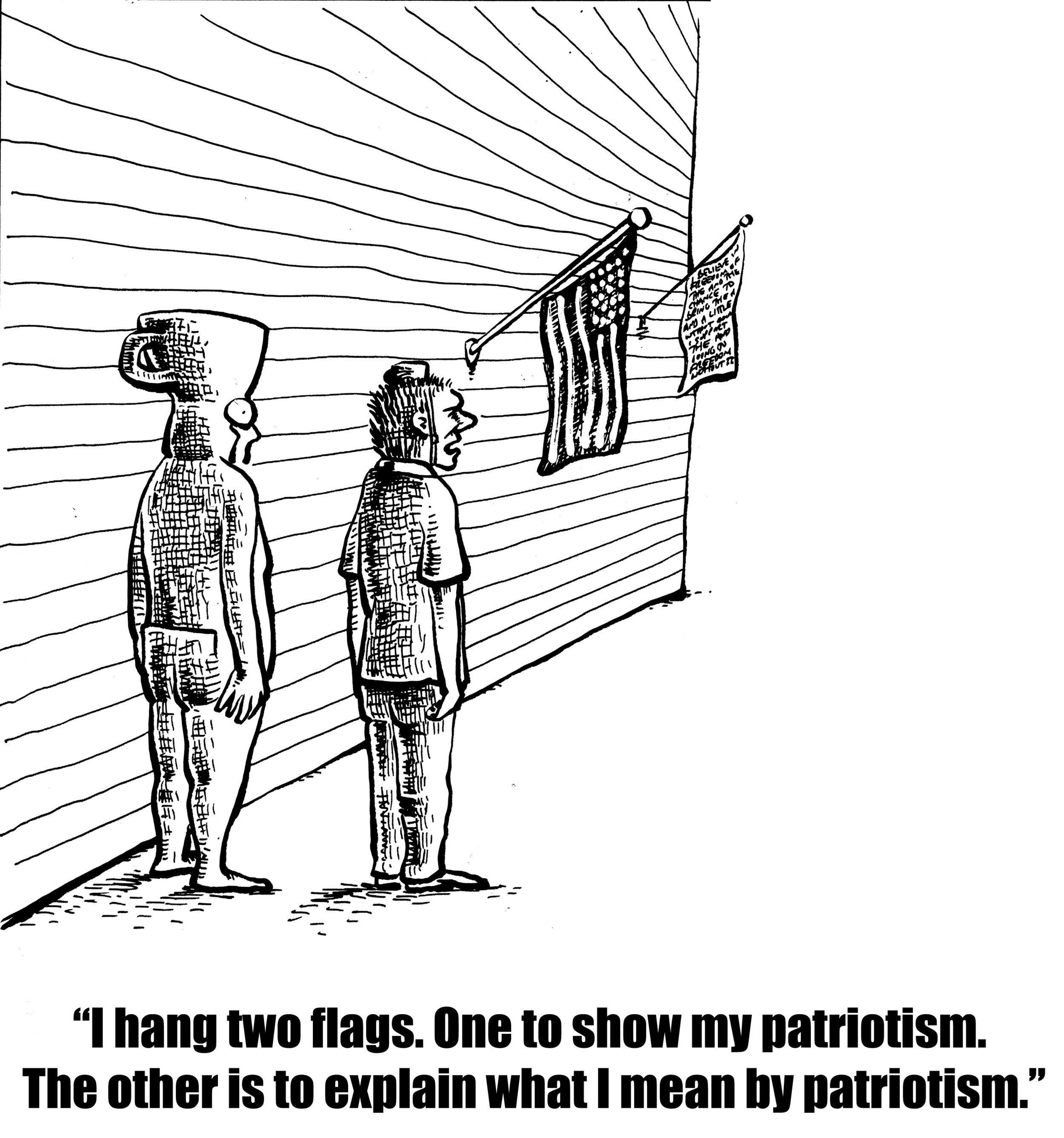 Two Flags for Patriotism