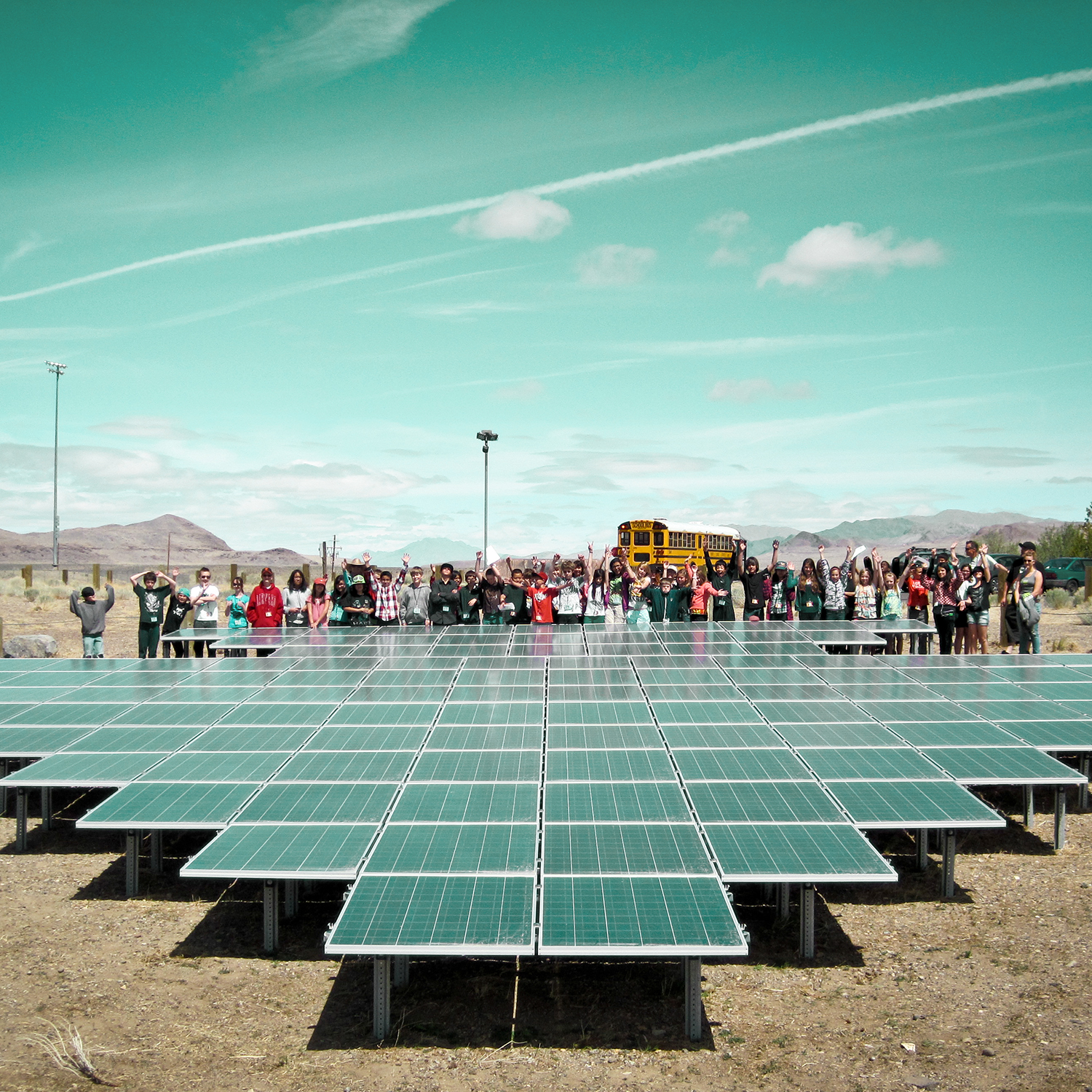 Black Rock Solar photovoltaic array at the Food Bank of Northern Nevada. Photo by Marnee Benson.