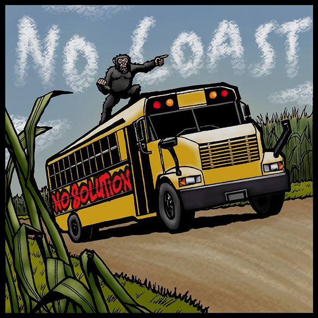 """‼️MIDNIGHT TONIGHT!!‼️ Hop on the bus to """"No Coast"""" Peoria, IL with @nosolutionband and get ready to take your ears on a ride to Pop Punk greatness!! 🎸🚌 No Solution's debut EP is sure to take your ears to places they've never been (or maybe they have)! They'll be celebrating their release over at Peoria Pizza Works with friends from Typecaster and The Complaint Line 🎶  If you're local, get out their and support your local music scene!  Otherwise, you can find them streaming live over on No Solutions Facebook page! 🤘🏻"""