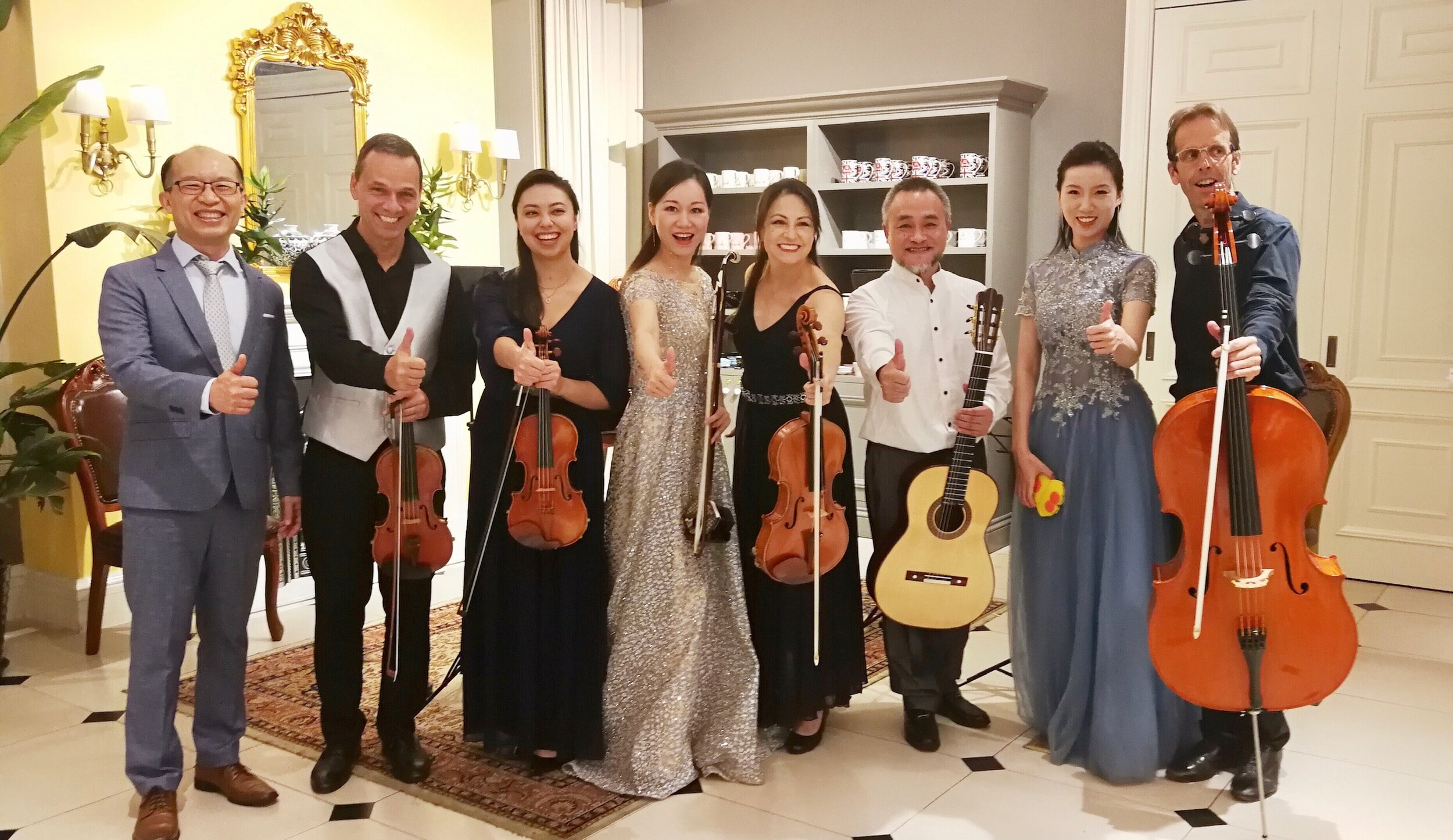 CDSQ with musicians from the Hunan Group.