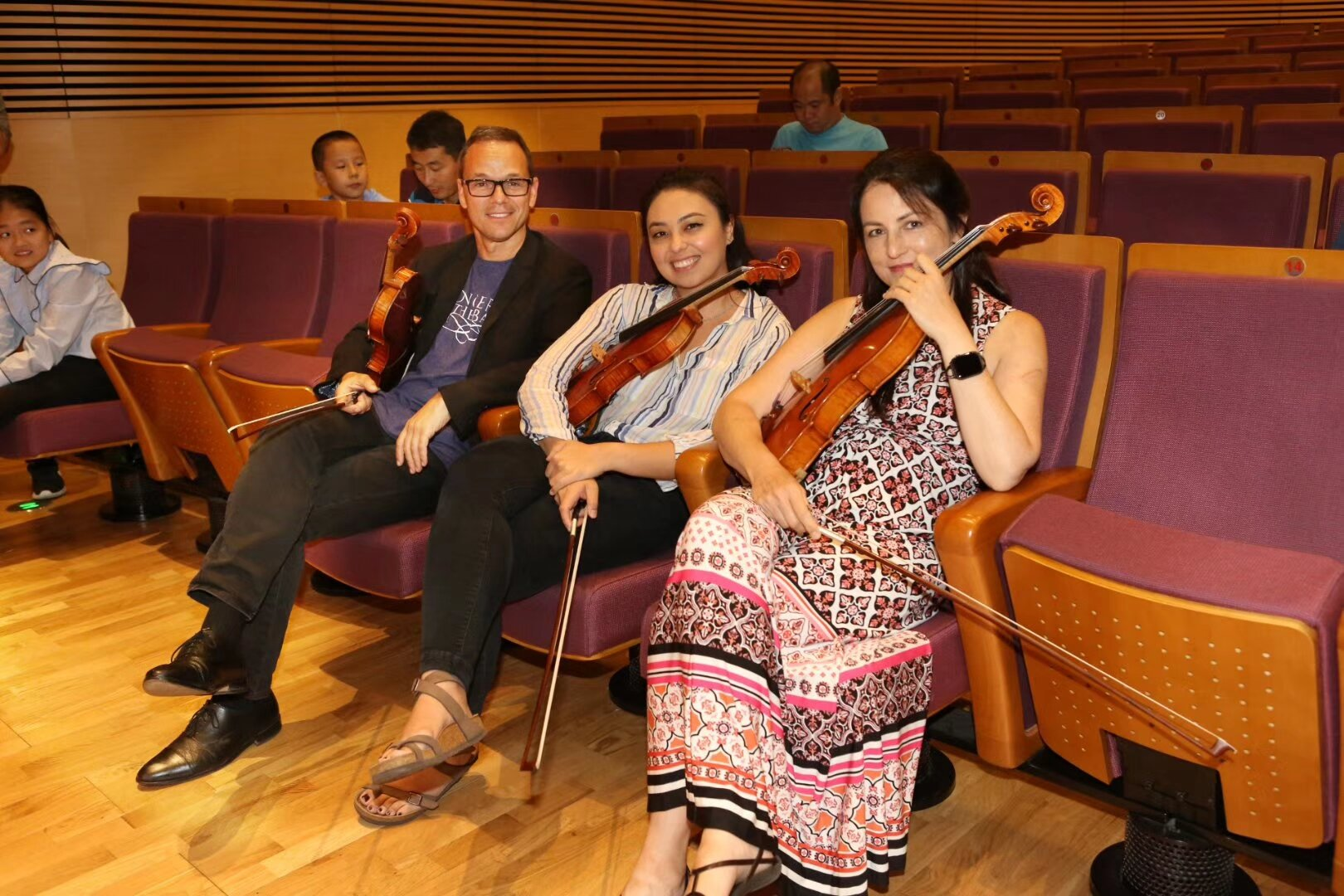 Chas. Marisa, and Korine at Young Artist Masterclass and Lecture